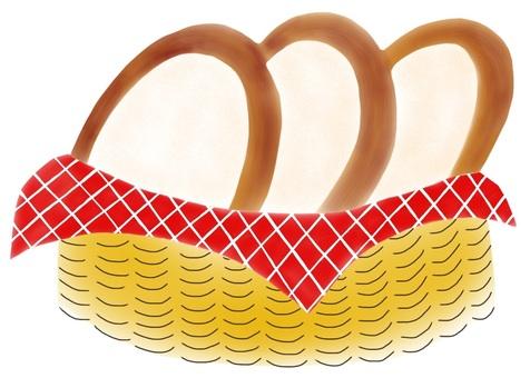 식빵 (등나무 바구니)