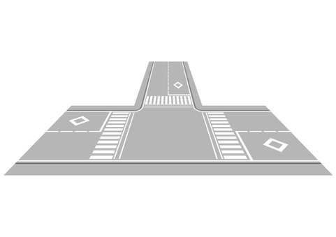 Road with intersection 2
