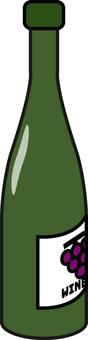 Wine bottle (burgundy)