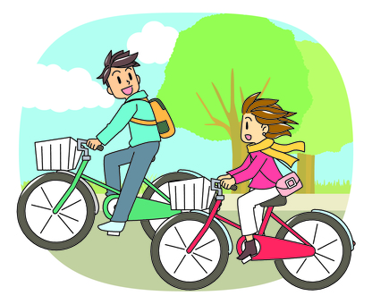 Cycling male and female
