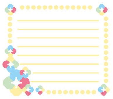 Flower and decorating stationery 1-1