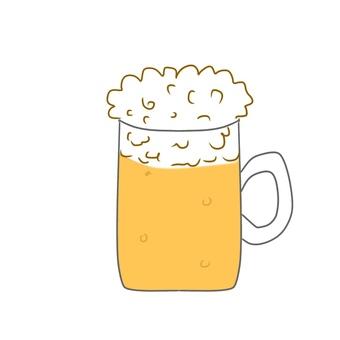 Draft beer illustration