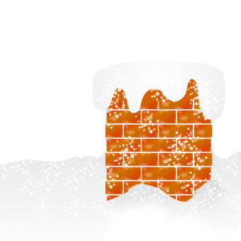 Christmas material (chimney)