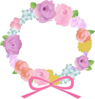 Rose frame wreath