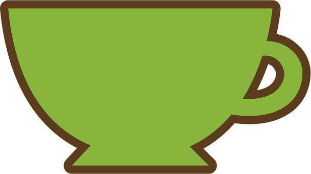 찻잔 (녹색)