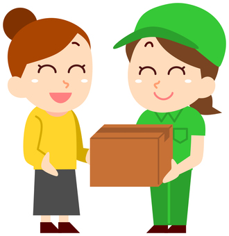 Receive a package from a courier company