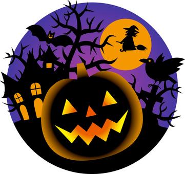 Halloween _ one point _ 01 _ purple