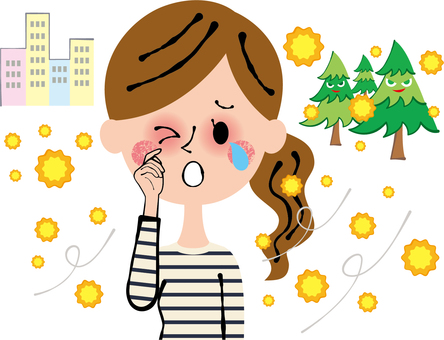 Eye is itchy with pollen allergies Allergy upper body
