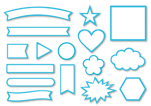 Title Ribbon collection _ light blue