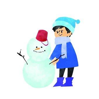 Men who make snowmen