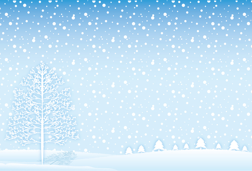 Simple background frame with snowy scenery