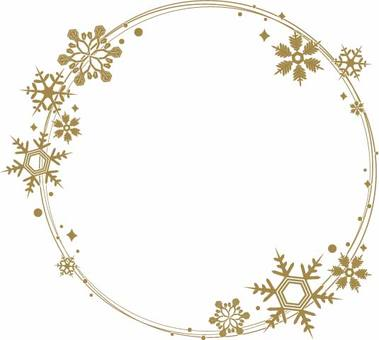 Snow Round Frame