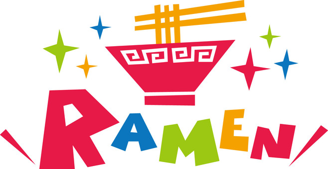 RAMEN ☆ Chinese soba ☆ Pop logo