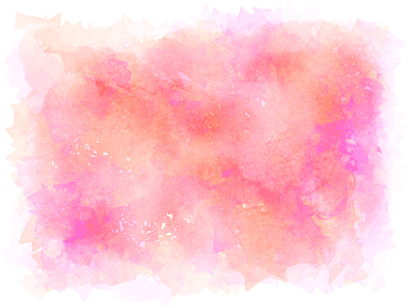 Watercolor frame red pink
