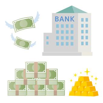 Bank illustration money