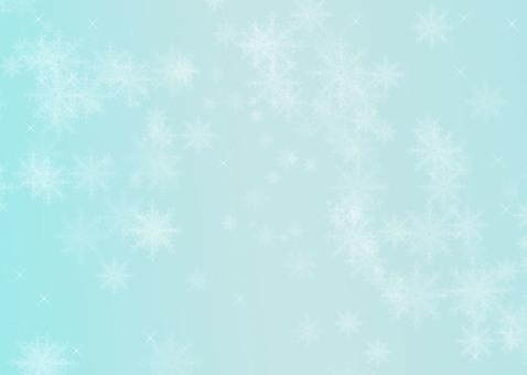 Snow Crystal Sky Blue