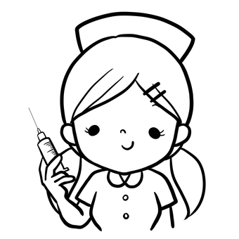 Nurse twin tail injection line drawing