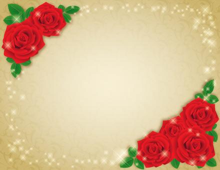 Red rose frame _ gold