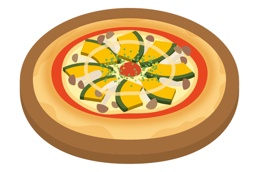 披薩南瓜和蘑菇