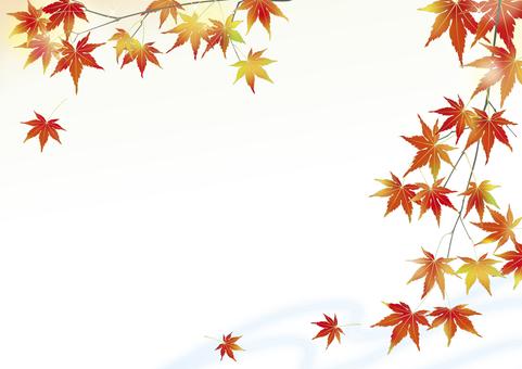 Mountain stream of Kinu autumn _ horizontal size