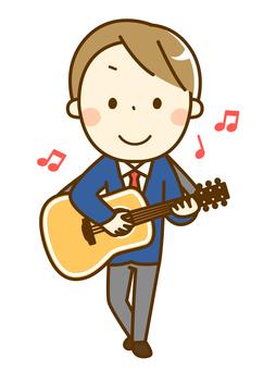 기타를 연주하는 소년