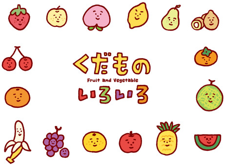 Various fruits Character version