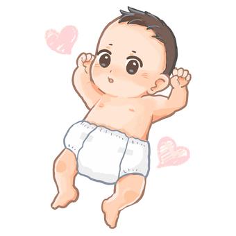 Baby in a diaper figure
