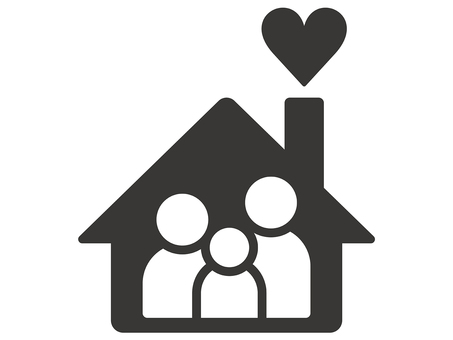 Home and heart icon