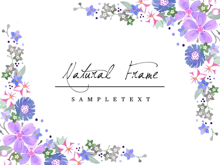 Natural frame material 04 blue