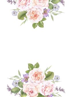 花框架207  - 与玫瑰色的玫瑰花框架