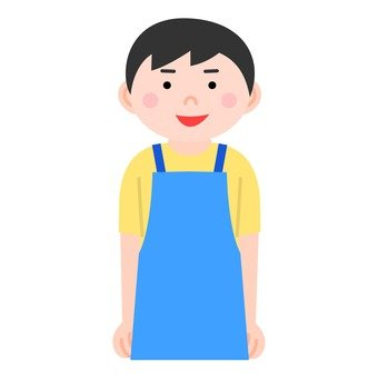 A man with an apron
