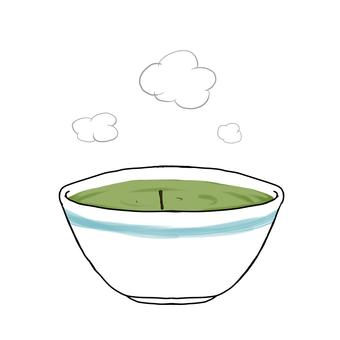 Green tea (with hot tea pillar)