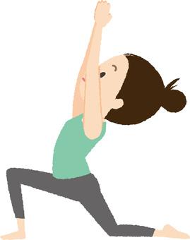 Yoga Crescent Pose