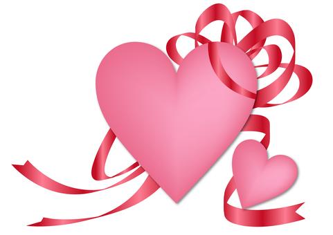 Heart & ribbon