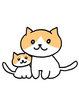 Cat's parent and child