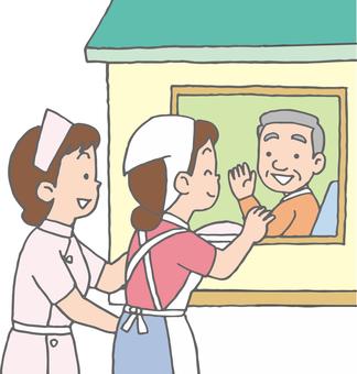 Visiting nursing care