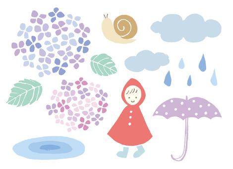 Hand rain parts of the rainy season