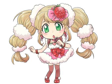 딸기 히로인 노래하는 모습 2