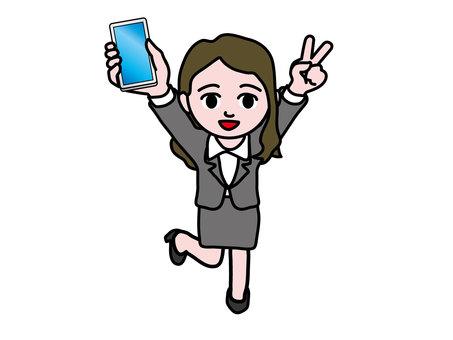 Smartphone (5) Female employee choki