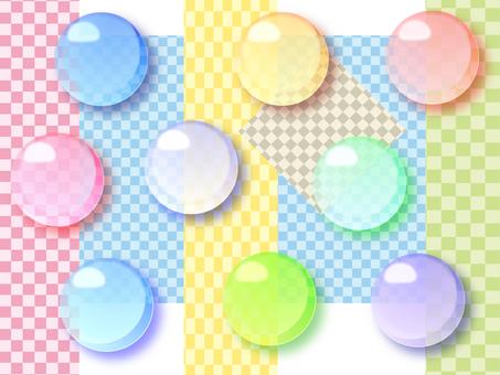 彩色玻璃圖標