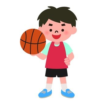 A boy with basketball