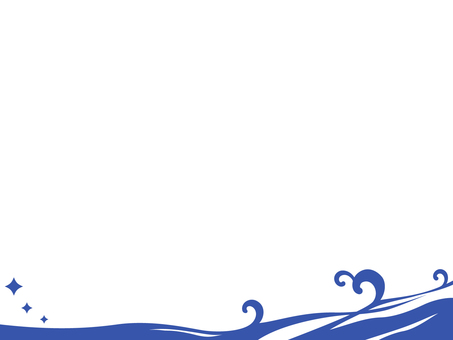 氷の波背景_波