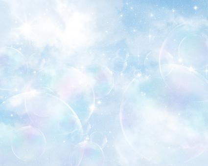 Glittering Romantic Background: Blue