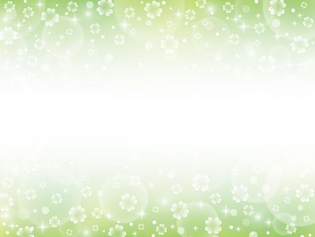 Clover glitter top and bottom frame