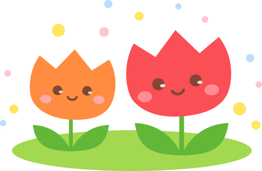 Cute tulip _ With face