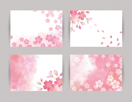 벚꽃을 장식 한 카드