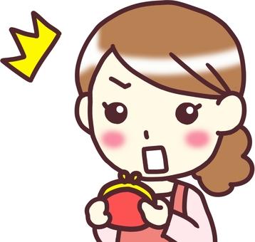 【Female apron】 diagonally _ wallet