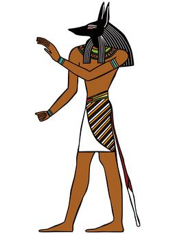 エジプト イラスト アヌビス12