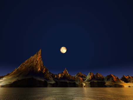 Fantastic fantasy scenery (moonlit night)