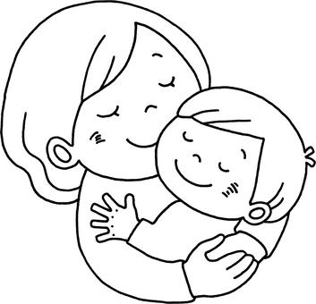 母親,擁抱,男孩